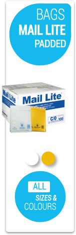 Mail Lite Bubble Wrapped Envelopes - Size A - K in Gold and White
