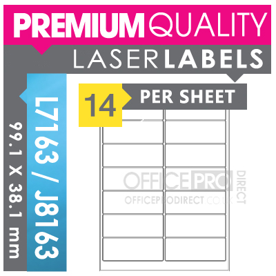 50 sheets 14 per sheet a4 self adhesive printer for Template for labels 14 per sheet