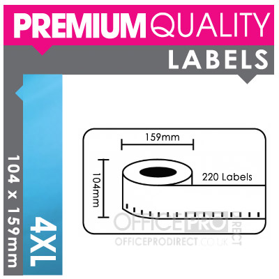 5 rolls 4xl dymo seiko compatible extra large shipping for Dymo address label template