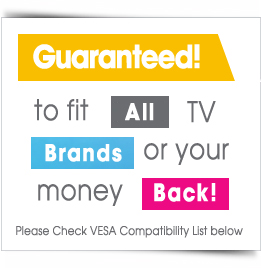 Fits All Brand and Models of TV or your Money back in Full!